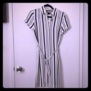 Striped Ann Taylor shirt dress